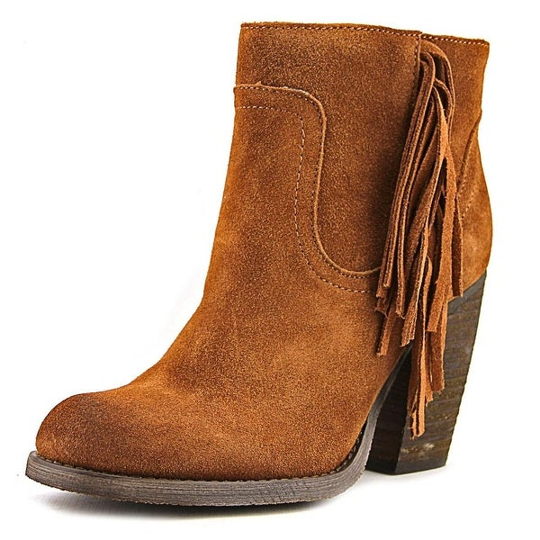 Sbicca Marimba Women Round Toe Suede Brown Ankle Boot