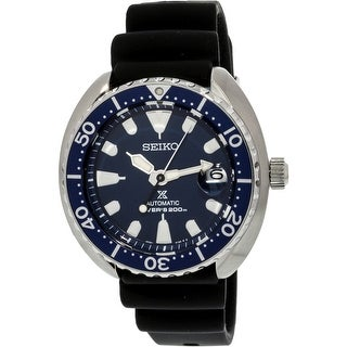 Seiko Men's SRPC39K Silver Silicone Automatic Diving Watch