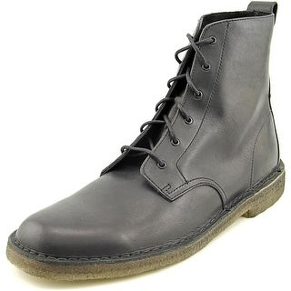Clarks Originals Desert Mali Men  Round Toe Leather Black Desert Boot