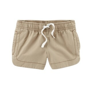 Carter's Baby Girls' Easy Pull-On Twill Shorts, Khaki