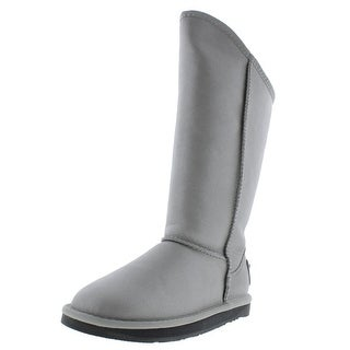 Australia Luxe Womens Cosy Tall Leather Fur Lined Mid-Calf Boots