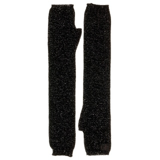 Gianfranco Ferre GUA01039 Wool Blend Shimmery Knitted Long Gloves