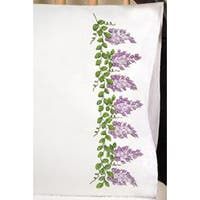 "Wisteria - Stamped Pillowcase Pair For Embroidery 20""X30"""