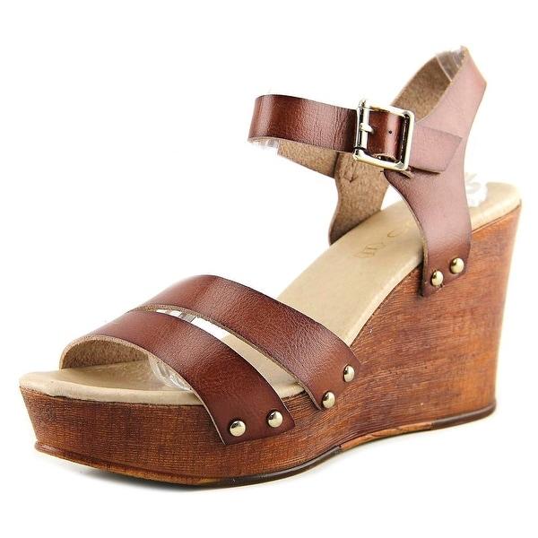 Aldo Eowowia Women Open Toe Leather Wedge Sandal