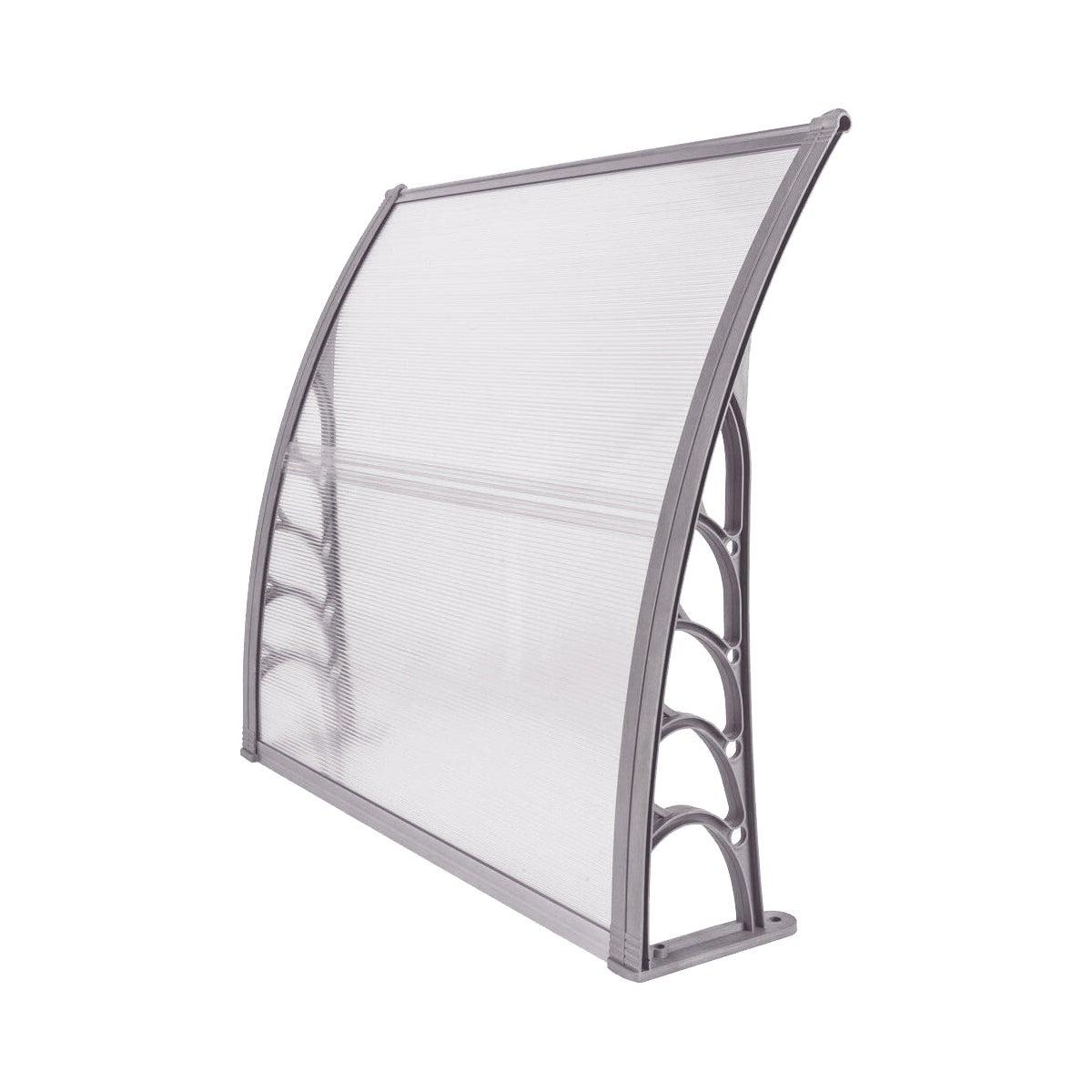 Shop Black Friday Deals On Costway 40 X 40 Window Awning Door Canopy Outdoor Front Door Transparent With Gray Bracket Overstock 18116289