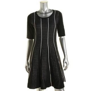 Sandra Darren Womens Petites Sweaterdress Knit Pattern (Option: Pl)