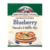 Maple Grove Farms All Natural Blueberry Pancake and Waffle Mix - Case of 6 - 24 oz.