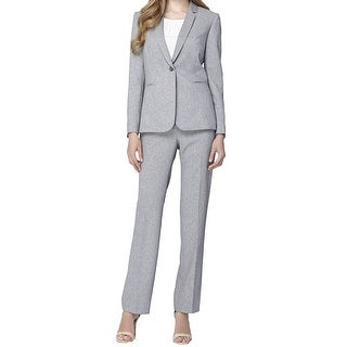 Tahari ASL Twill One Button Jacket Pant Suit - 6