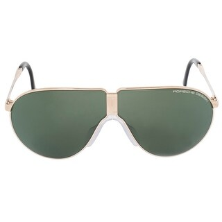 Porsche Design Design Heritage P8480 A 66 Unbreakable Foldable Sunglasses for Men Light Gold Titanium Frame Green Mi
