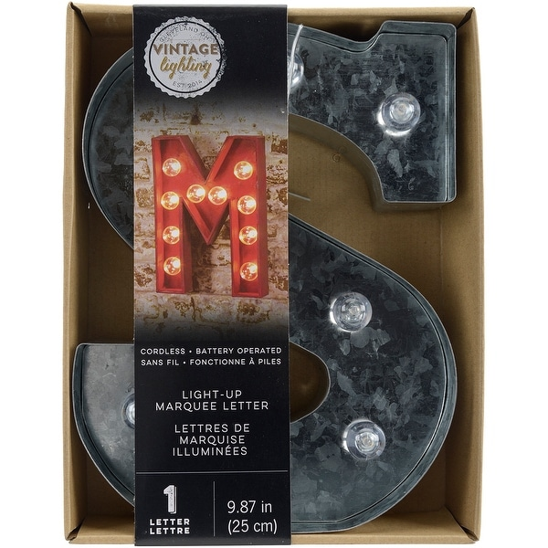 """Silver Metal Marquee Letter 9.875""""-S"""