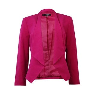 Nine West Women's Solid Collarless Open Front Blazer|https://ak1.ostkcdn.com/images/products/is/images/direct/ba1998392c10863646ad6521a50d8c762b8c518b/Nine-West-Women%27s-Solid-Collarless-Open-Front-Blazer.jpg?_ostk_perf_=percv&impolicy=medium