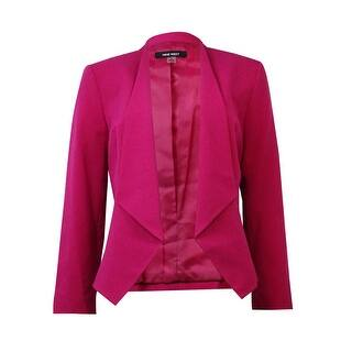 Nine West Women's Solid Collarless Open Front Blazer|https://ak1.ostkcdn.com/images/products/is/images/direct/ba1998392c10863646ad6521a50d8c762b8c518b/Nine-West-Women%27s-Solid-Collarless-Open-Front-Blazer.jpg?impolicy=medium