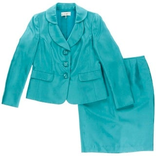 Le Suit Womens Satin 2PC Skirt Suit