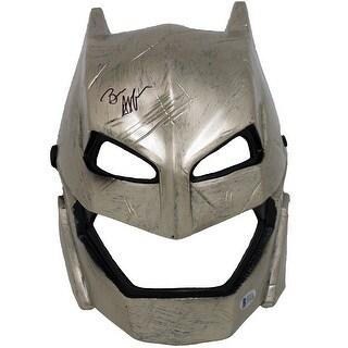 Ben Affleck Signed Armored Batman Vs Superman Adult Mask BAS Authentication