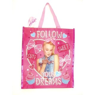 Jojo Siwa Large shopping Tote Carry All Bag Follow your Dreams