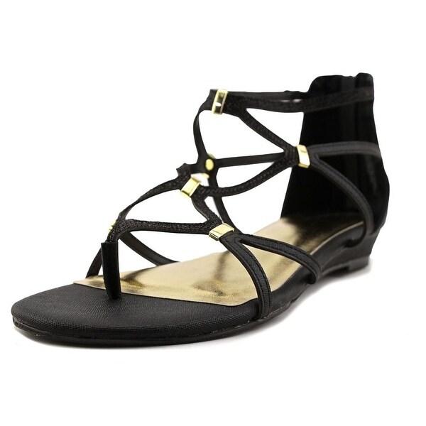 Thalia Sodi Pamella Women Black Metallic Sandals