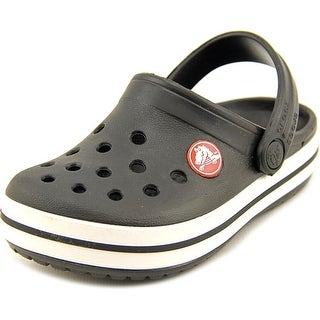 Crocs Crocband Kids Toddler Round Toe Synthetic Black Clogs