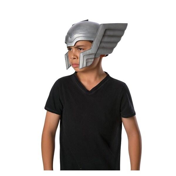 Avengers Assemble Thor Child Costume Helmet - Silver