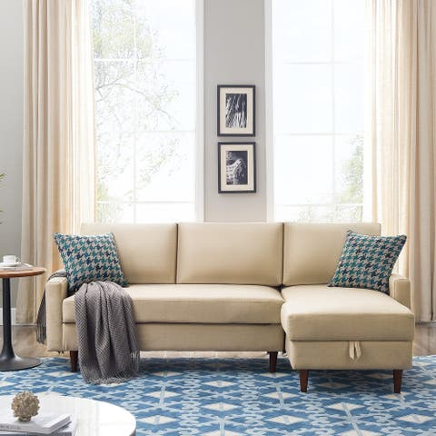 """84"""" Sleeper Sectional Sofa,Storage Chaise with Pull-out Bed,3 seat ,right handed (Pillows not included)"""
