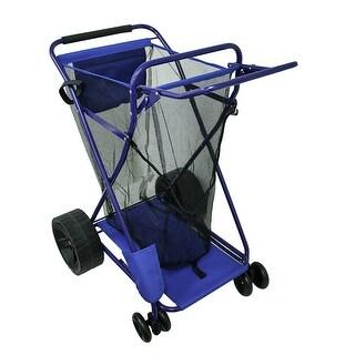 Wide Wheel Deluxe Beach Cargo Cart 75 Pound Capacity