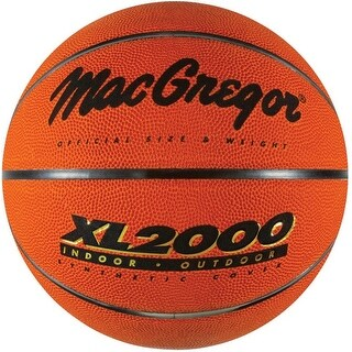MacGregor 40-96200BX Official Size 2000 Basketball, Rubber, Brown