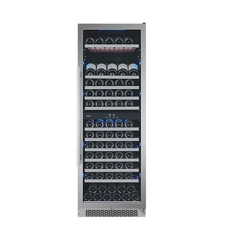 Avallon AWC241TDZLH 24 Inch Wide 141 Bottle Capacity Dual Zone Wine Cooler with