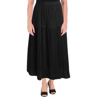 Ivanka Trump Womens Peasant, Boho Skirt Pleated Textured