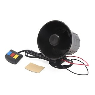 Motorcycle Car 3 Tone Sounds Loud Speaker Security Warning Alarm Siren Horn 12V