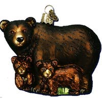 Bear With Cubs Ornament