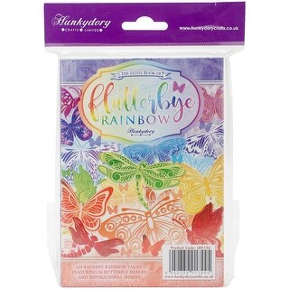 Hunkydory The Little Book Of A6 Paper Pad 144/Pkg-Flutterbye Rainbow