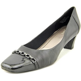 Easy Spirit Quinilla Women Square Toe Leather Black Heels