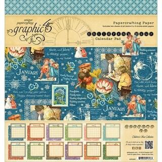 "Graphic 45 Calendar Pad Double-Sided 8""X8"" 24/Pkg-Children's Hour, 12 Designs/2 Each"