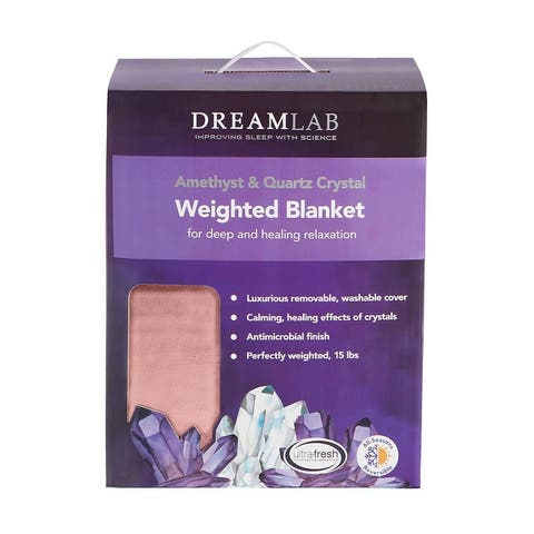 DreamLab Crystal 15lb Reversible Cooling Weighted Blanket with Removable Cover