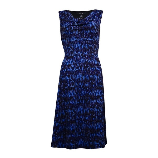 Style & Co. Women's Cowl Neck Sleeveless A-Line Dress