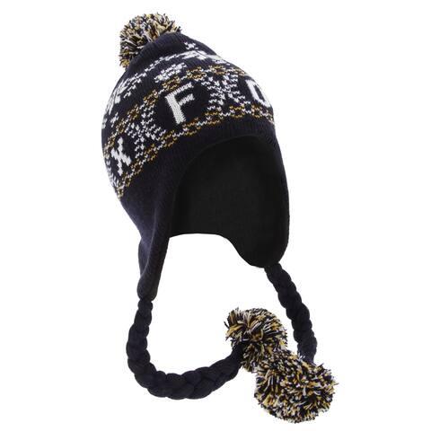 Unisex Fairisle Pattern Oxford Peruvian Winter Hat - One Size