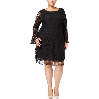 ING Womens Plus Cocktail Dress Lace Knee-Length
