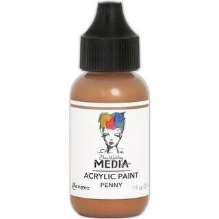 1 oz Dina Wakley Media Heavy Body Metallic Acrylic Paint - Penny