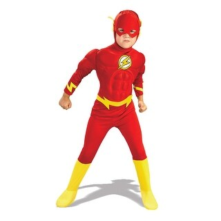 Rubies Justice League Deluxe Muscle Chest The Flash Toddler/Child Costume - Red