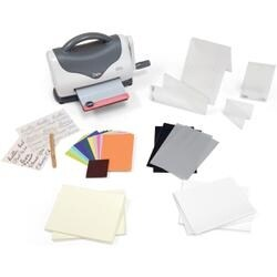 Gray & White Sizzix Texture Boutique Embossing Starter Kit