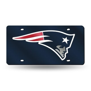 New England Patriots License Plate Laser Cut Navy
