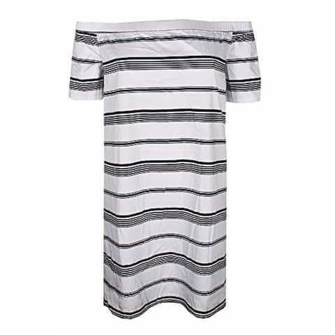 MAISON JULES White Short Sleeve Above The Knee Dress XL