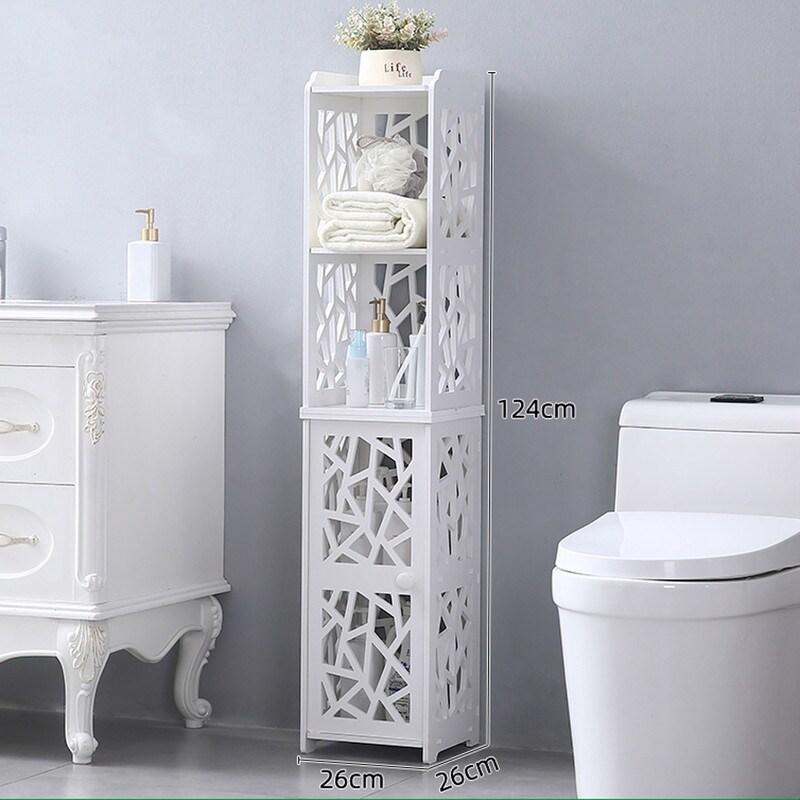 Bathroom Storage Corner Floor Cabinet With Doors And Shelves 11 Overstock 33361718