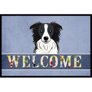Carolines Treasures BB1427JMAT Border Collie Welcome Indoor & Outdoor Mat 24 x 36 in.