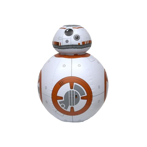"26"" Star Wars Gold and White BB-8 Life Sized Droid Inflatable Swimming Pool Toy"