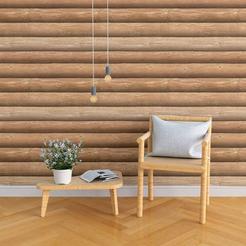 Brown wood Peel and Stick Removable Wallpaper 2870