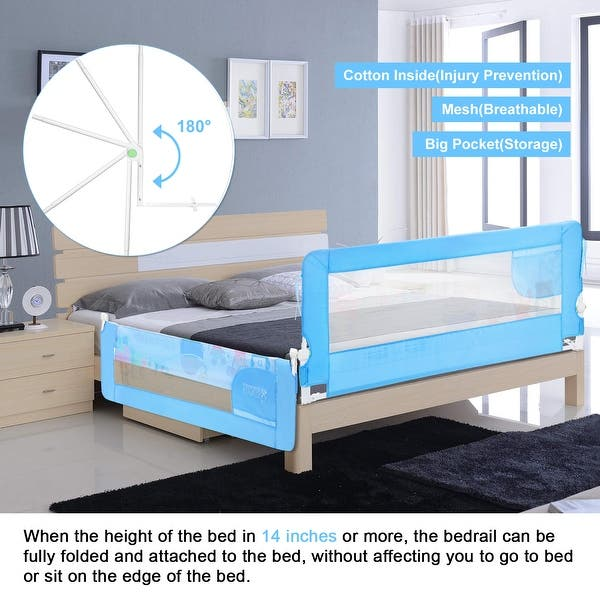 Shop 59in Toddler Bed Rail For Twin Bed Also For Queen And King Size Beds Bule M Overstock 32048034