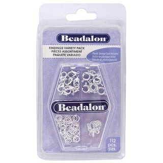 Beadalon - Jewelry Findings Variety Pack - Silver-Plated
