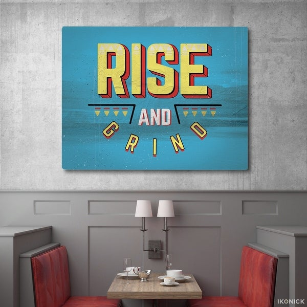 IKONICK Rise and Grind Canvas Art