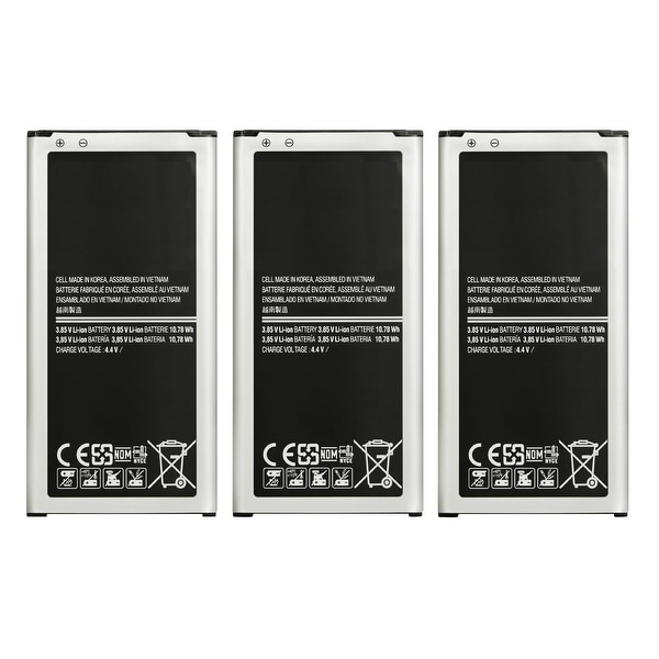 Replacement EB-BG900BBU Battery for Samsung Galaxy S5 AT&T Cell Phone Models (3 Pack)