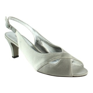 David Tate Womens Palm-040 Silver Ankle Strap Sandals Size 9 (AA,N)